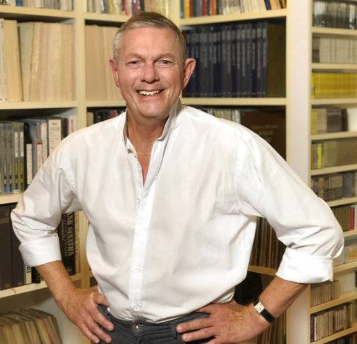 "In this Nov. 13, 2017 photo released by Sujata Murthy, Richard Carpenter of the singing duo The Carpenters, poses in the record library of his home in Los Angeles. Twelve of the best-selling duo's albums have been remastered and pressed on high-quality vinyl. ""Carpenters: The Vinyl Collection,� which includes their hits ""We've Only Just Begun� and ""Top of the World,� will be released on Friday. (Sujata Murthy via AP)"