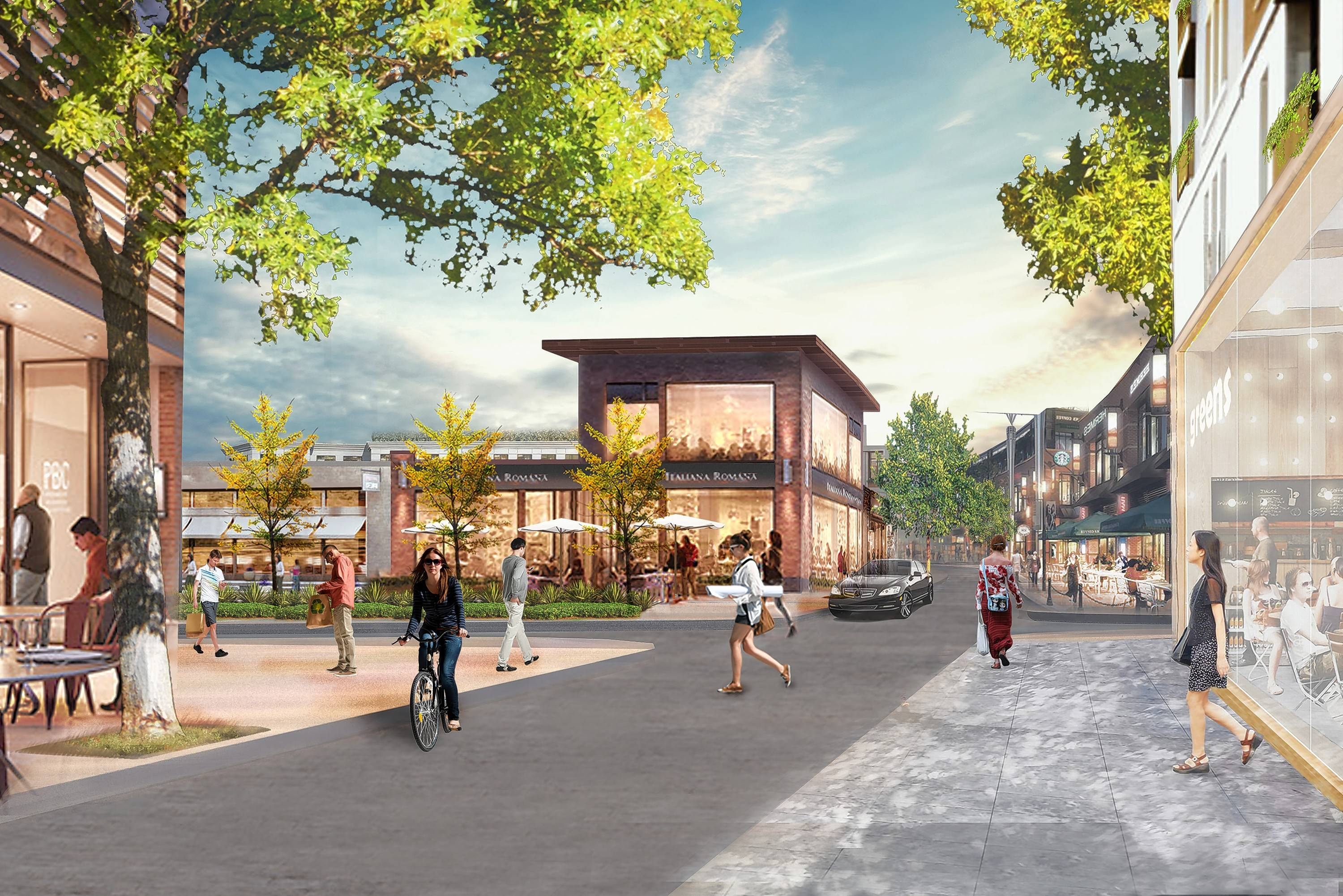 Chase Plaza would be modernized into a retail plaza and office park under plans unveiled Thursday by Buffalo Grove planners and consultants.