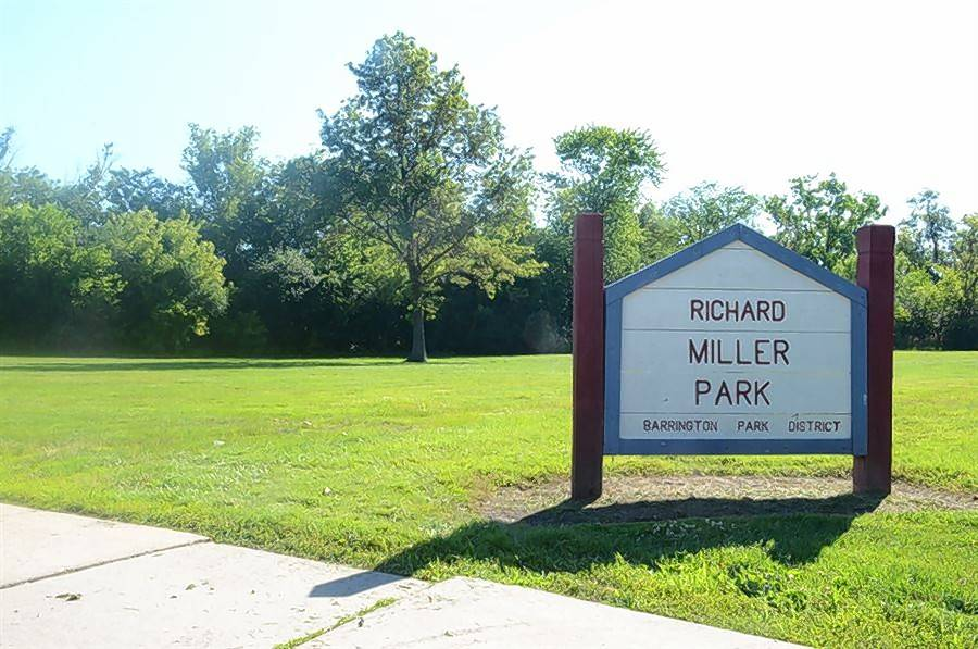 A chunk of Richard Miller Park is part of a land swap agreement between Barrington village government and the park district meant to help a flood-prone neighborhood near Northwest Highway.