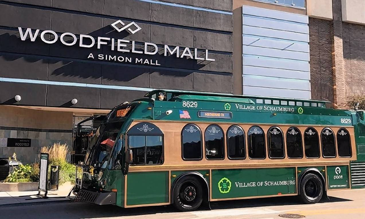 The village of Schaumburg's Woodfield Trolley service is free and more frequent during the holidays.
