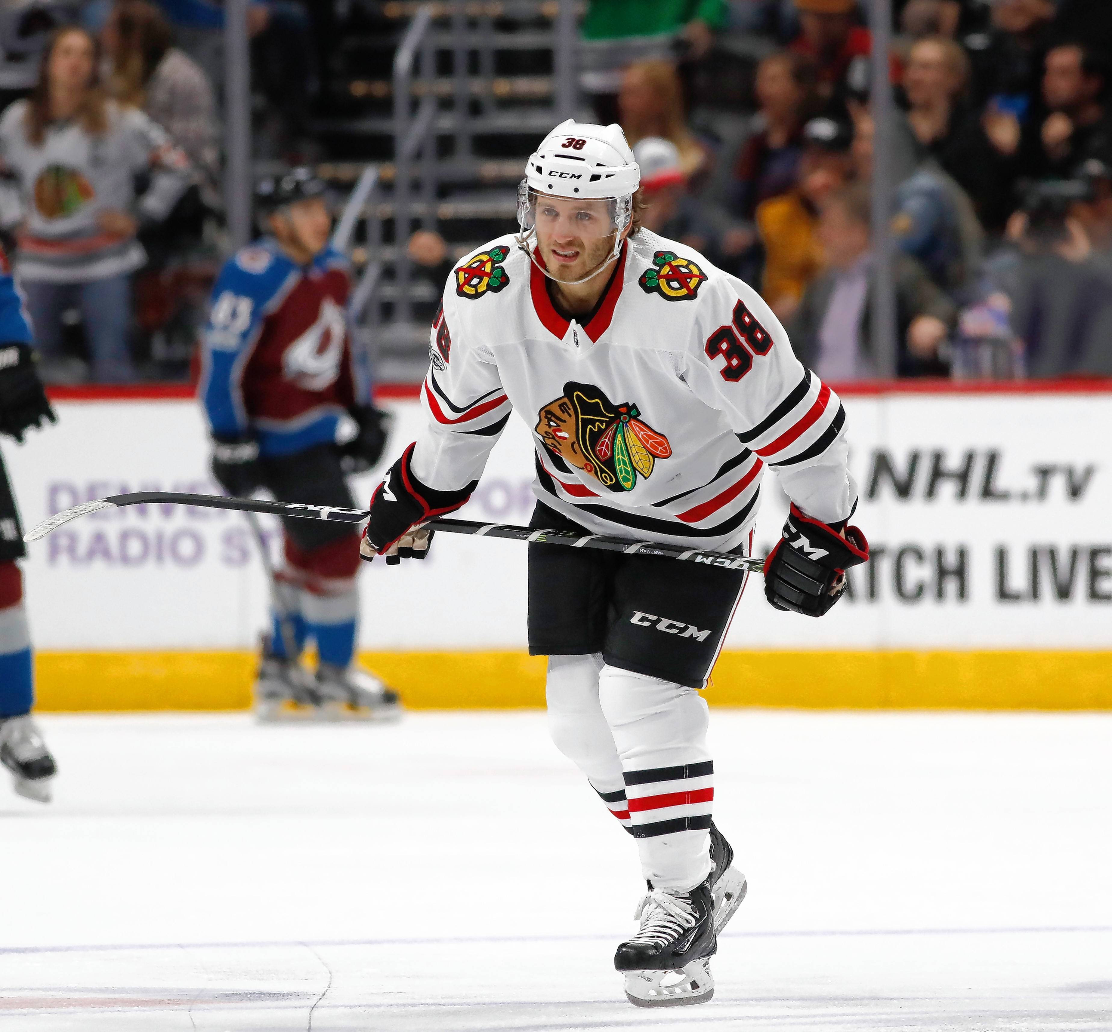 Ryan Hartman's sophomore season in the NHL got off to an epic start, but Chicago Blackhawks coach Joel Quenneville made his struggling winger a healthy scratch Sunday against New Jersey. Hartman came back strong the next game, however, and opened his coach's eyes centering the team's third line.