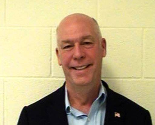 FILE - This Aug. 25, 2017, booking photo originally provided by the Gallatin County Detention Center shows U.S. Rep. Greg Gianforte, R-Mont. A Montana judge has ordered the release on Monday, Oct. 10, 2017, of the mug shot taken of the state's lone Congressman after he was convicted of assaulting a Guardian reporter Ben Jacobs on the eve of the special election that put him in office. More than 100 pages of documents, photos and audio from the investigation into Gianforte were released under a court order on Friday, Nov. 17, 2017. (Gallatin County Detention Center via AP, File)