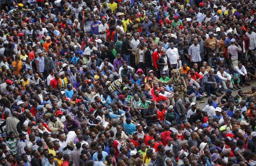 The Latest: Demonstrators shift to symbolic Zimbabwe Grounds