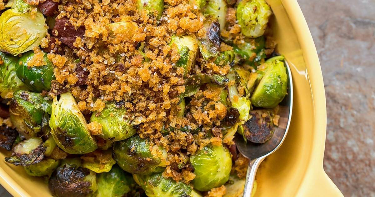 Pan-Roasted Brussels Sprouts With Chorizo And Toasted ...