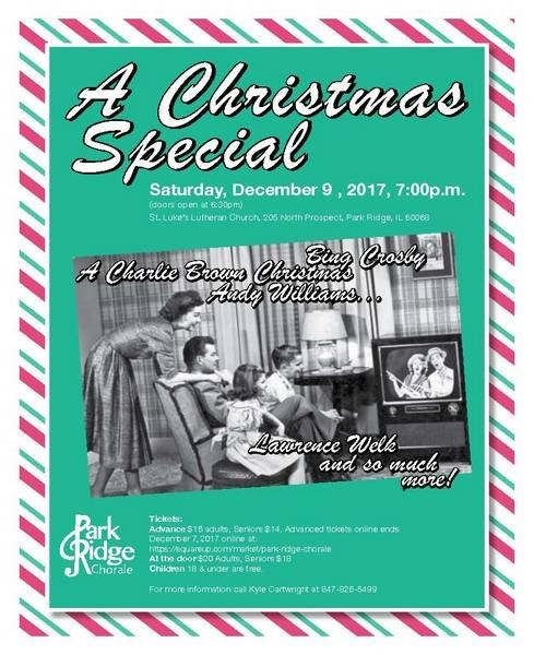 park ridge chorale performs a christmas special holiday music from tv specials over the decades - When Does Christmas In The Park Open