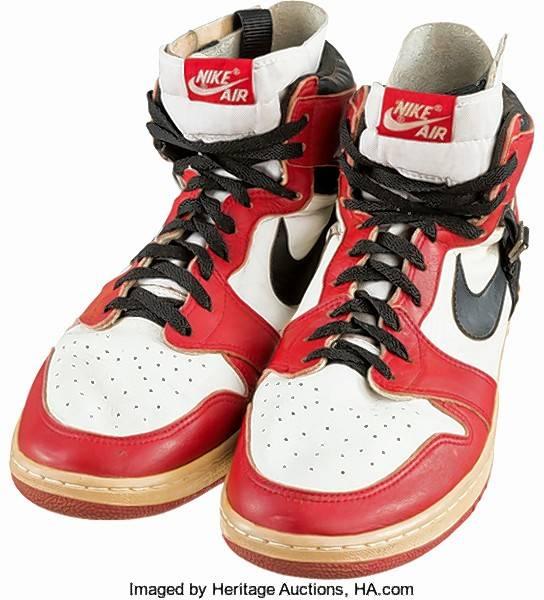 michael jordan s shoes get record 55 000 at auction