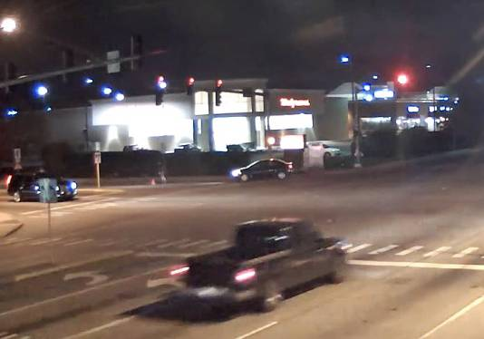 A child who fell from a car can be seen in this intersection video. Drivers in nearby vehicles stopped to assist.