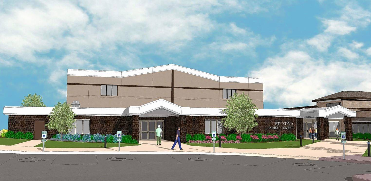 St. Edna Catholic Church plans to construct a 13,700-square-foot parish center addition in hopes of increasing participation of parishioners.