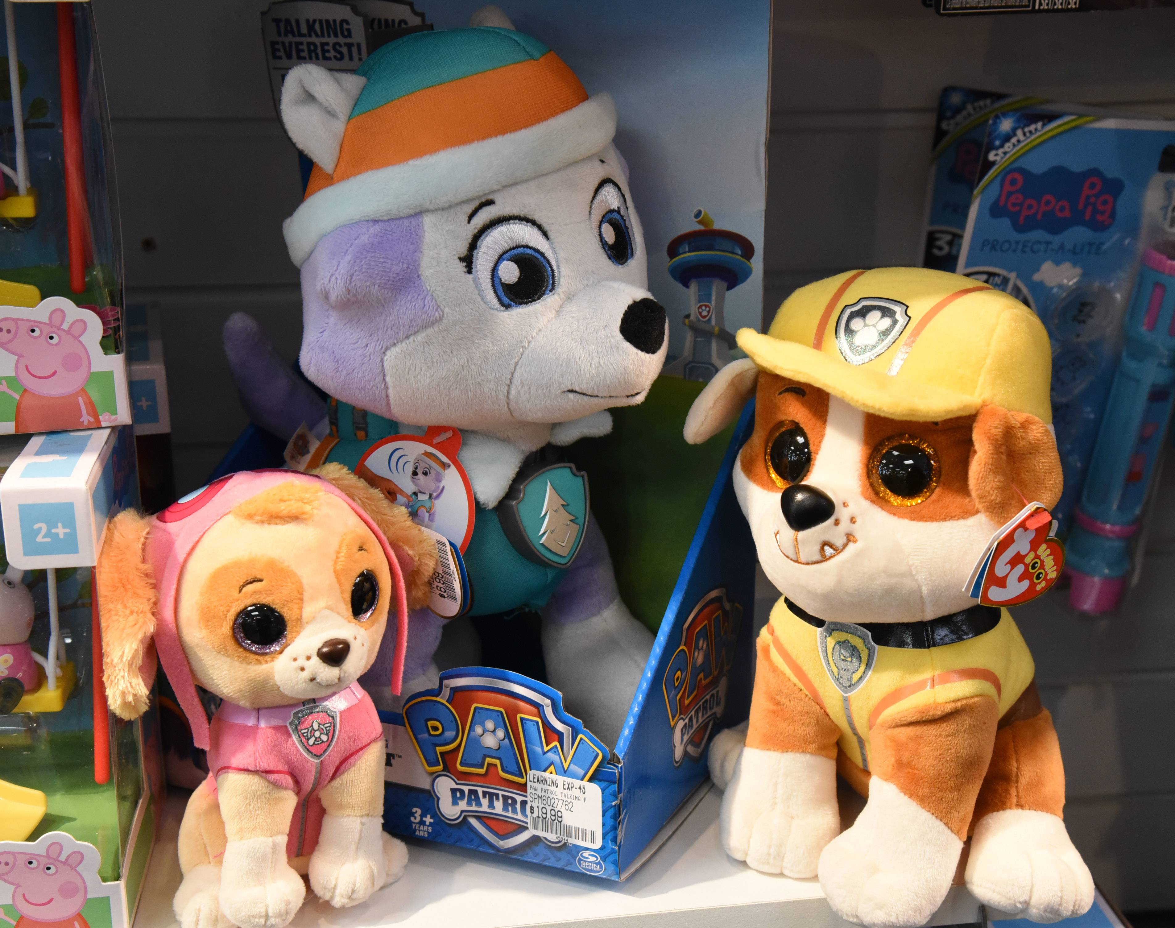 Paw Patrol items are a hot gift this season.