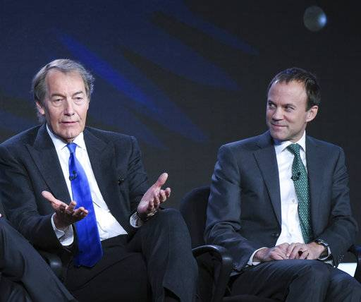 "FILE - In this Jan. 12, 2016 file photo, host Charlie Rose, left, and President, CBS News, David Rhodes, participate in the ""CBS This Morning"" panel at the CBS 2016 Winter TCA in Pasadena, Calif. Veteran news host Rose's firing at CBS makes him the latest in a string of prominent journalists felled abruptly by accusations of sexual misconduct. Rhodes said Tuesday, Nov. 21, 2017, that the network's credibility in its reporting requires credibility in the way it deals with misbehavior inside the network. (Photo by Richard Shotwell/Invision/AP, File)"