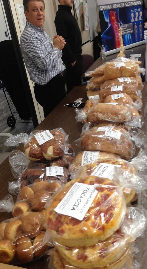 Nick Abbante of Artisan Bread Co. was selling fresh-baked bread products Saturday at the Elk Grove Winter Market in Christus Victor Church. The market will operate on the first and third Saturdays of the month through April.