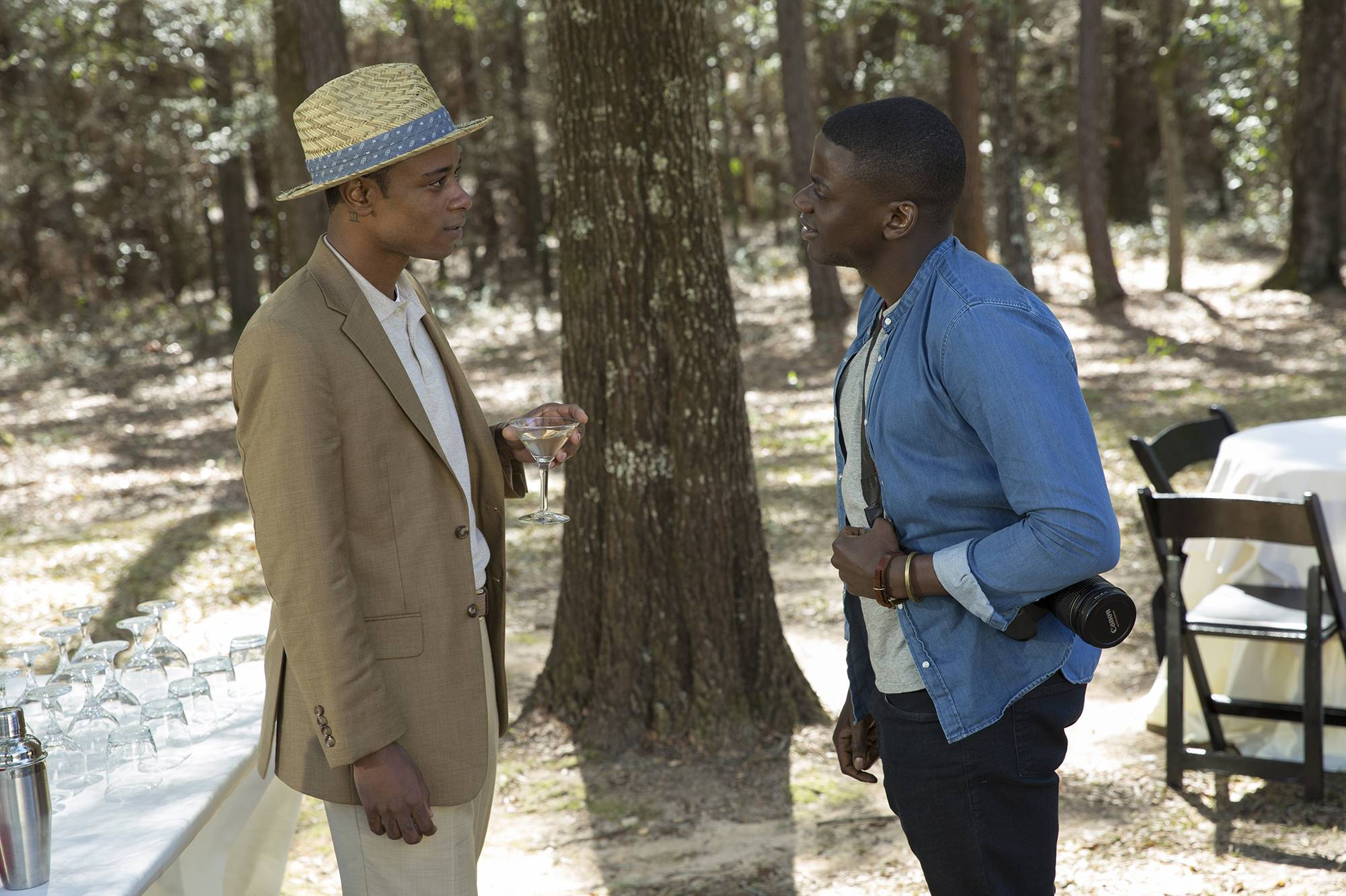 "While ""Get Out,"" starring Lakeith Stanfield, left, and Daniel Kaluuya, is being considered a comedy for awards consideration, this year's comedies have shown themselves to be exceptionally elastic vectors for serious content."