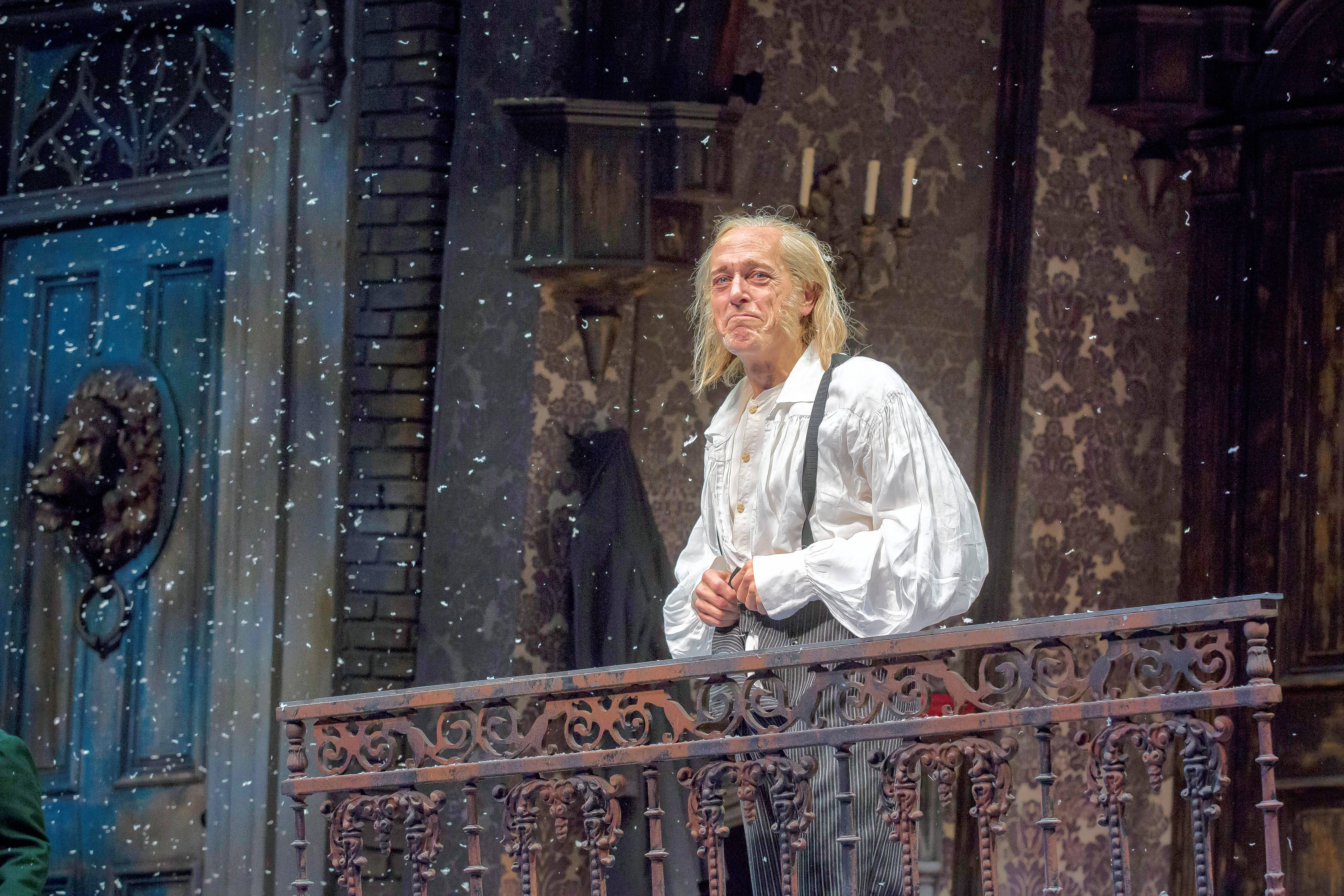 "Larry Yando reprises his role as Ebenezer Scrooge in Goodman Theatre's 40th annual production of Charles Dickens' ""A Christmas Carol."""