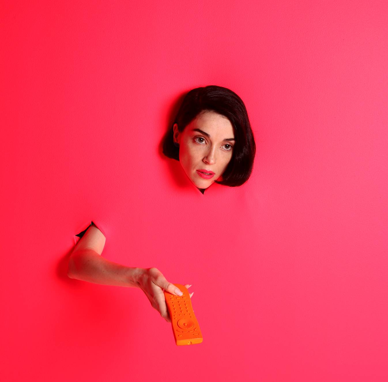 "Annie Clark — the guitar-wielding indie-rocker better known by her stage name, St. Vincent — says that one recurring lyric on her new album, about being unable to turn something off, is ""not only a desperate statement, but also a defiant one."""