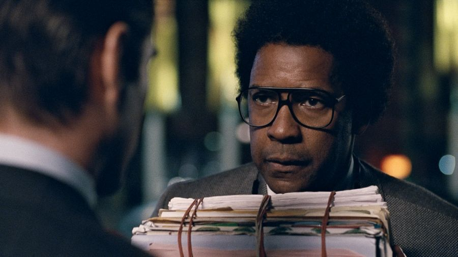 "Denzel Washington says he wore shoes a couple of sizes too big to play the title character in ""Roman J. Israel, Esq."""