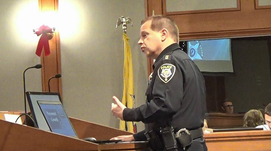 Mount Prospect acting Chief Michael Eterno told the village board the police department today needs space for people and services it didn't have in 1993, such as a crime-free housing coordinator, units to address narcotics and gang crime, and a social worker.