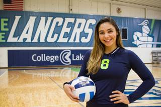 Melinda Blomberg, volleyball player and secondary education major, is one of nearly 100 College of Lake County students who received athletic scholarships in 2016.