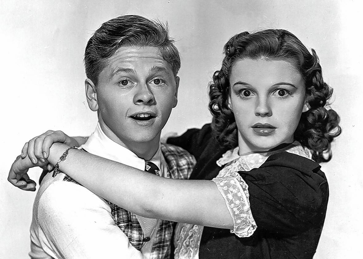 Mickey Rooney and Judy Garland starred in three Andy hardy movies together.