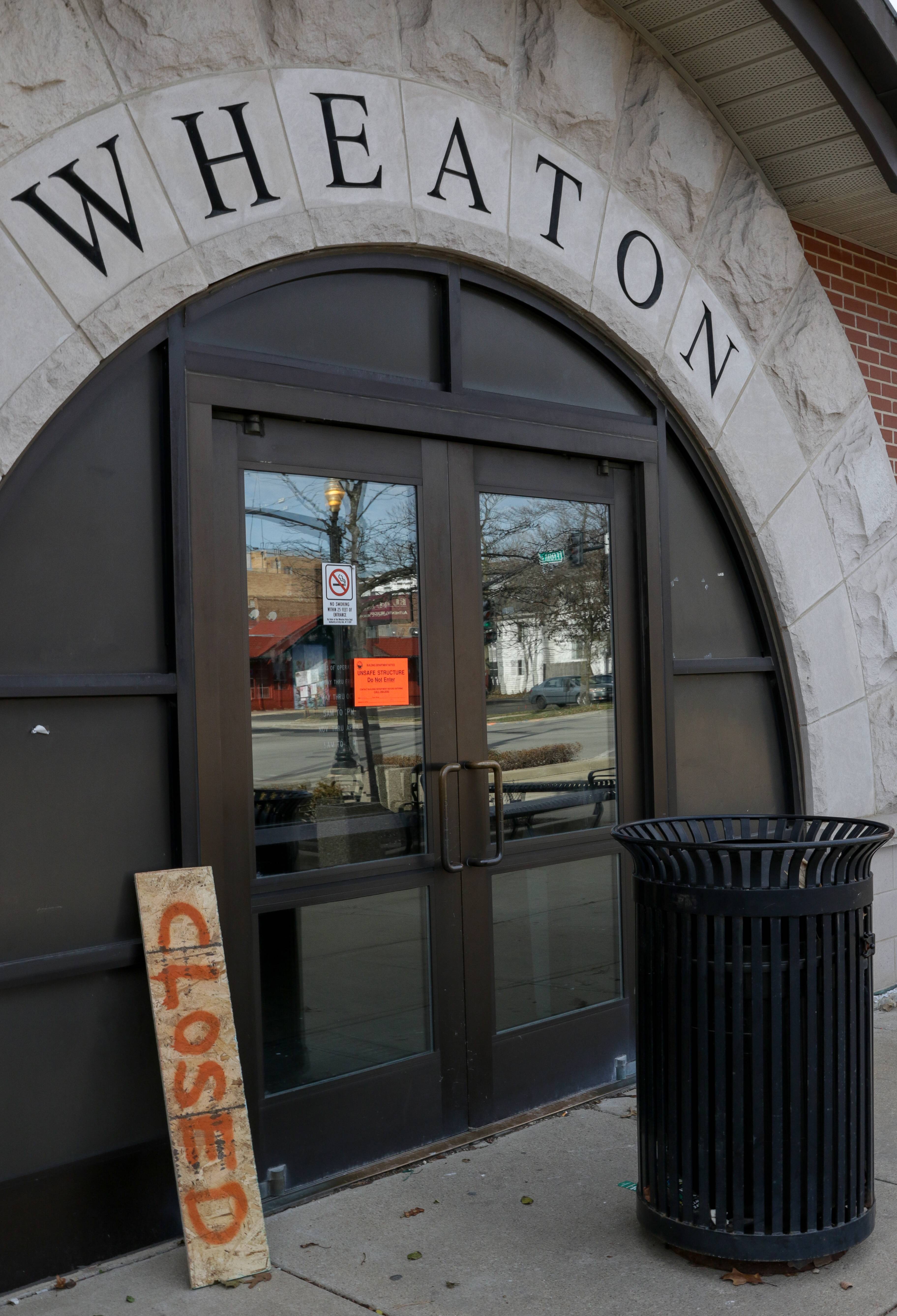 The Metra station in downtown Wheaton is still closed after a fire in a storage and furnace room the night before Thanksgiving.