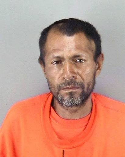 FILE - This undated file booking photo provided by the San Francisco Police Department shows Jose Ines Garcia Zarate. A jury has reached a verdict Thursday, Nov. 30, 2017, in the trial of Mexican man at center of immigration debate in the San Francisco pier shooting. (San Francisco Police Department via AP, File)