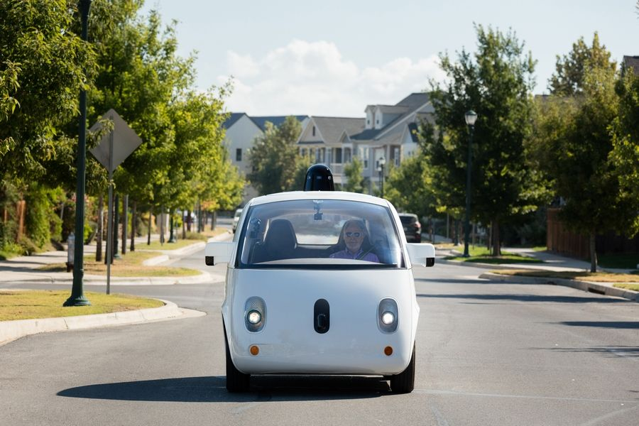Steve Mahan, who is legally blind, was the first non-Google employee to ride alone in the company's gumdrop-shaped autonomous car. The ride was in October 2015 in Austin. Advocates for the elderly and people with disabilities say the technology could give them unprecedented freedom.