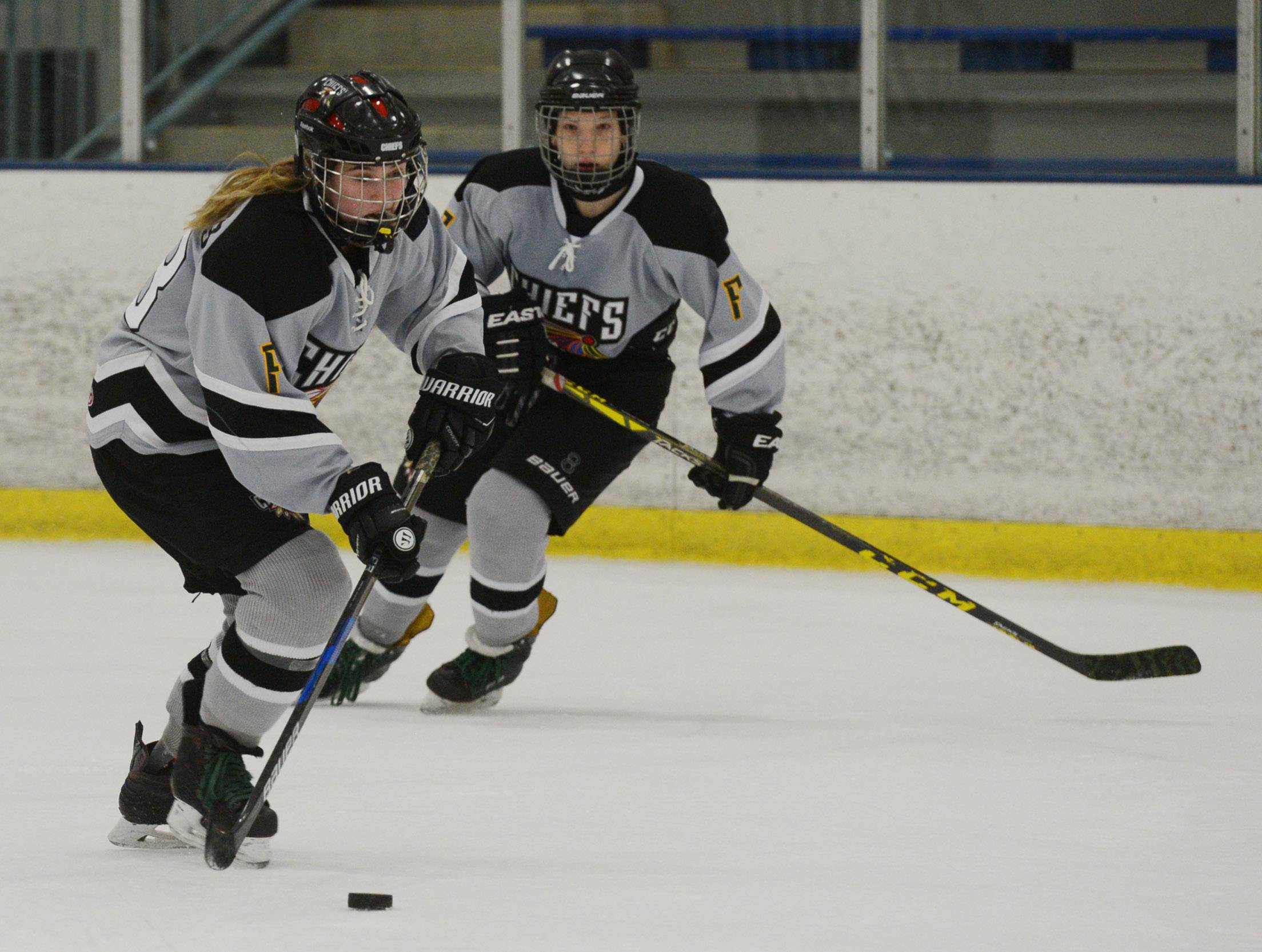 Girls are flocking to ice hockey across Illinois and the nation