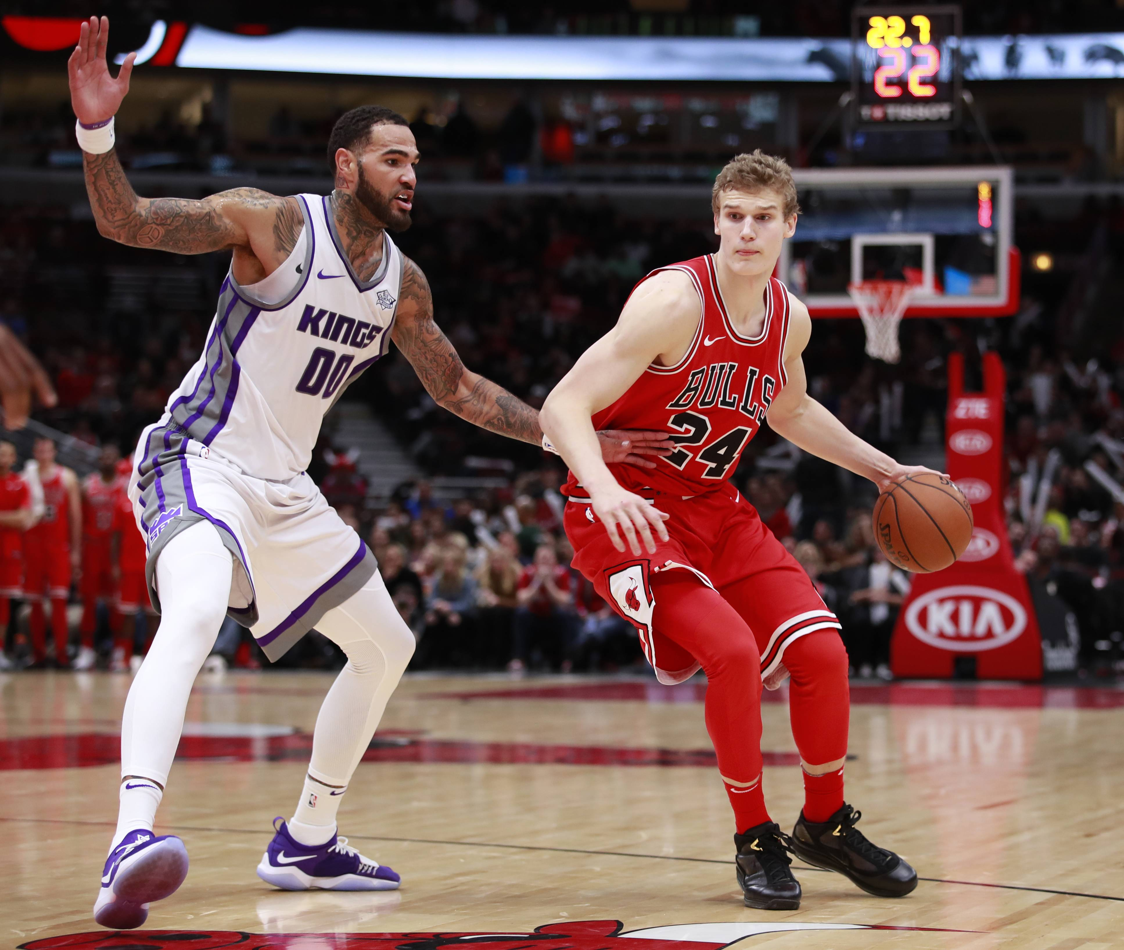Chicago Bulls forward Lauri Markkanen has seen some extended playing time late in games, which isn't typical for rookies. Though his performances aren't always the best, Markkanen says playing late gives him the chance to learn from his own mistakes.