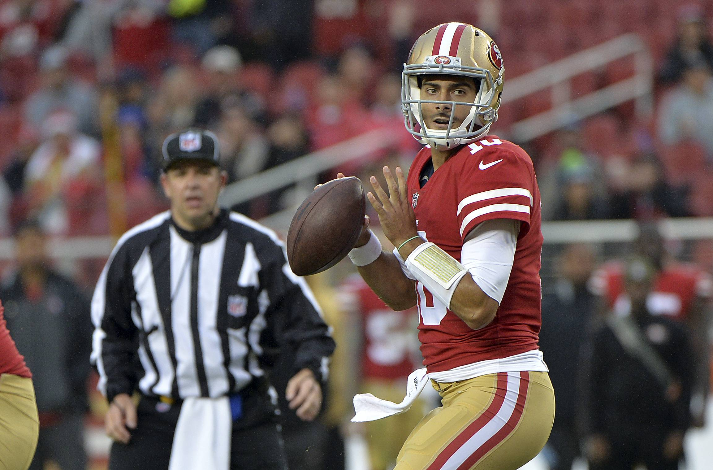 San Francisco quarterback Jimmy Garoppolo, a native of Arlington Heights, will get his first start for the 49ers against the Chicago Bears on Sunday at Soldier Field.