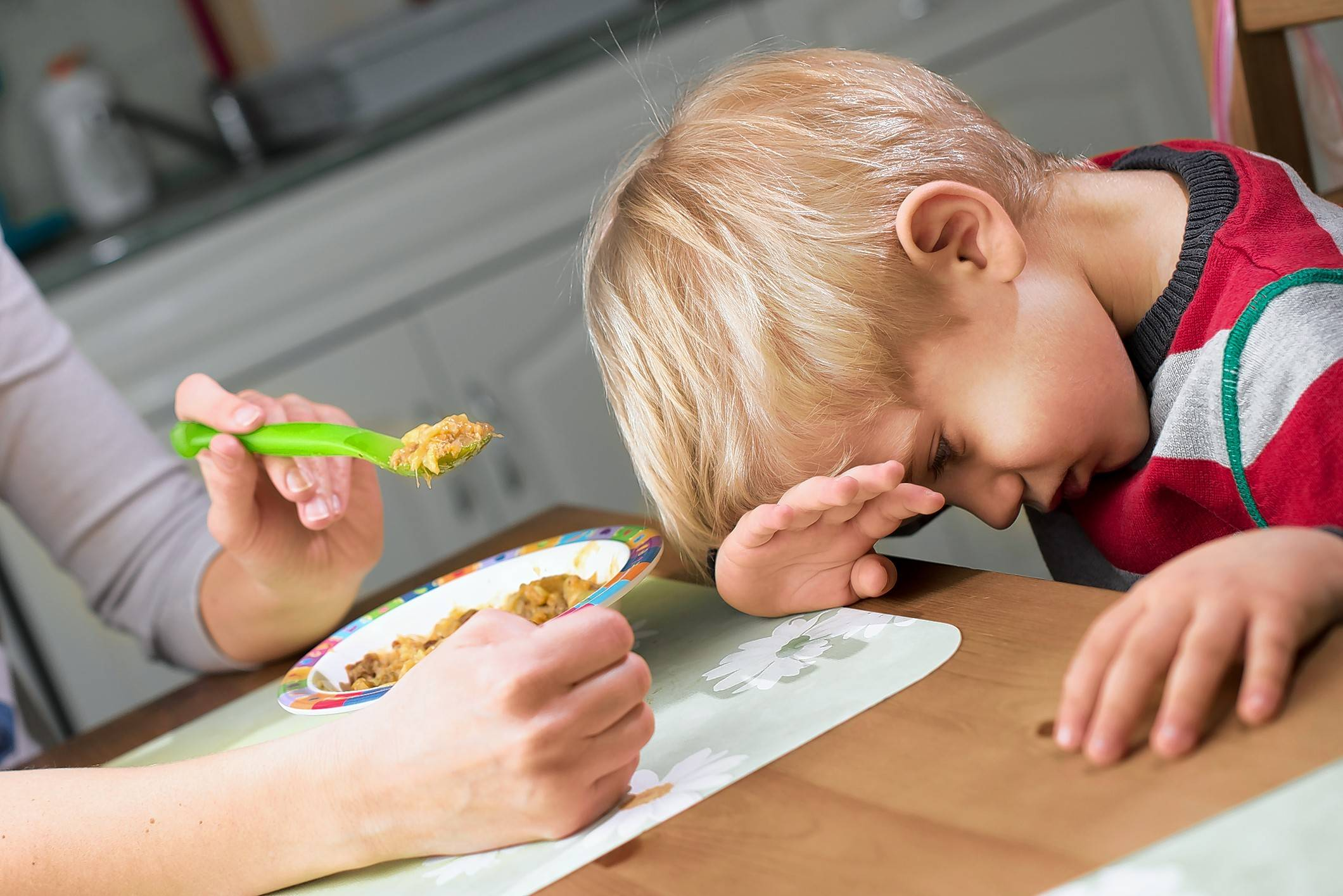 Don't try to force your child to eat, advises Dr. Matthew Smiley.