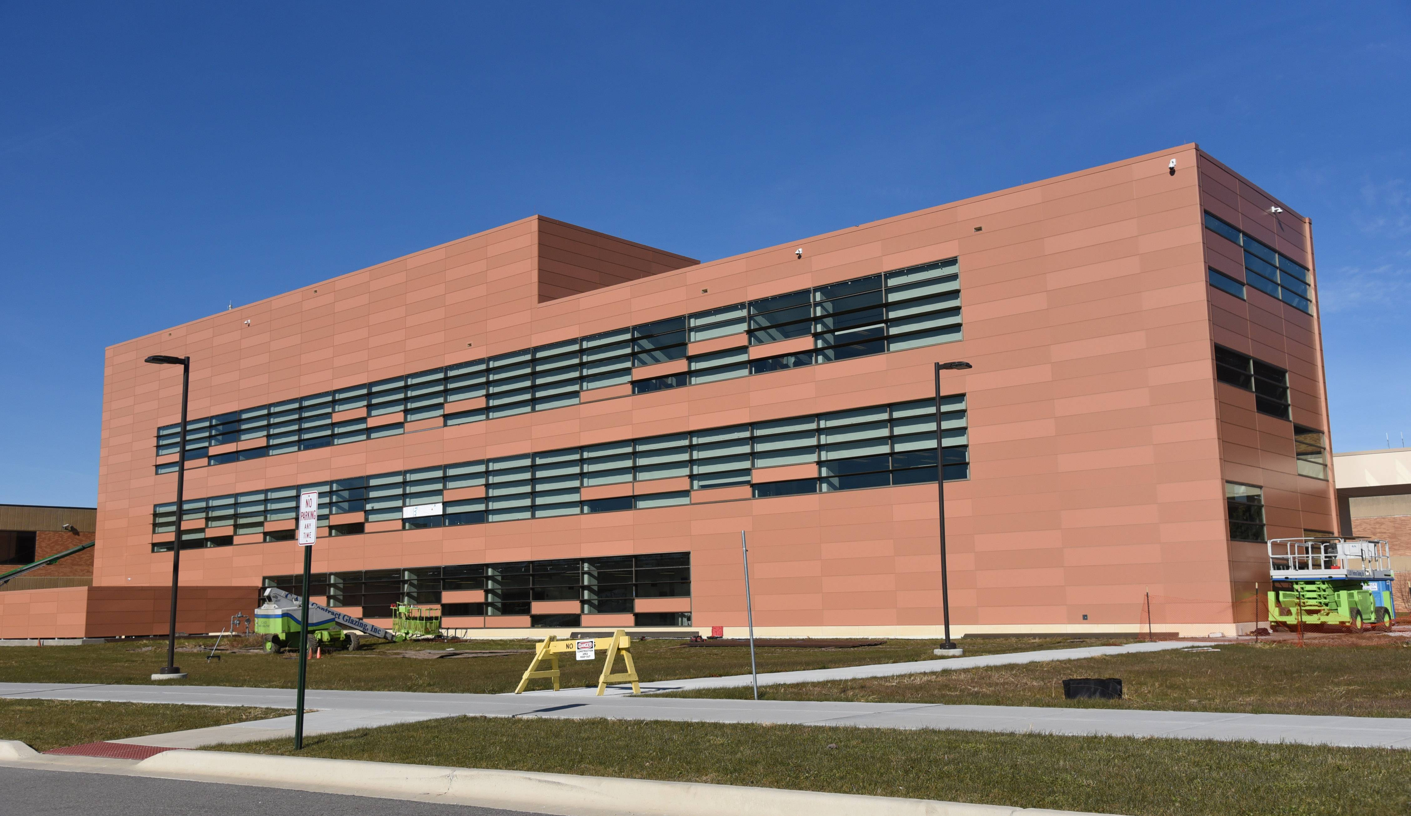 After numerous delays, the new College of Lake County's Science Building in Grayslake is nearing completion.