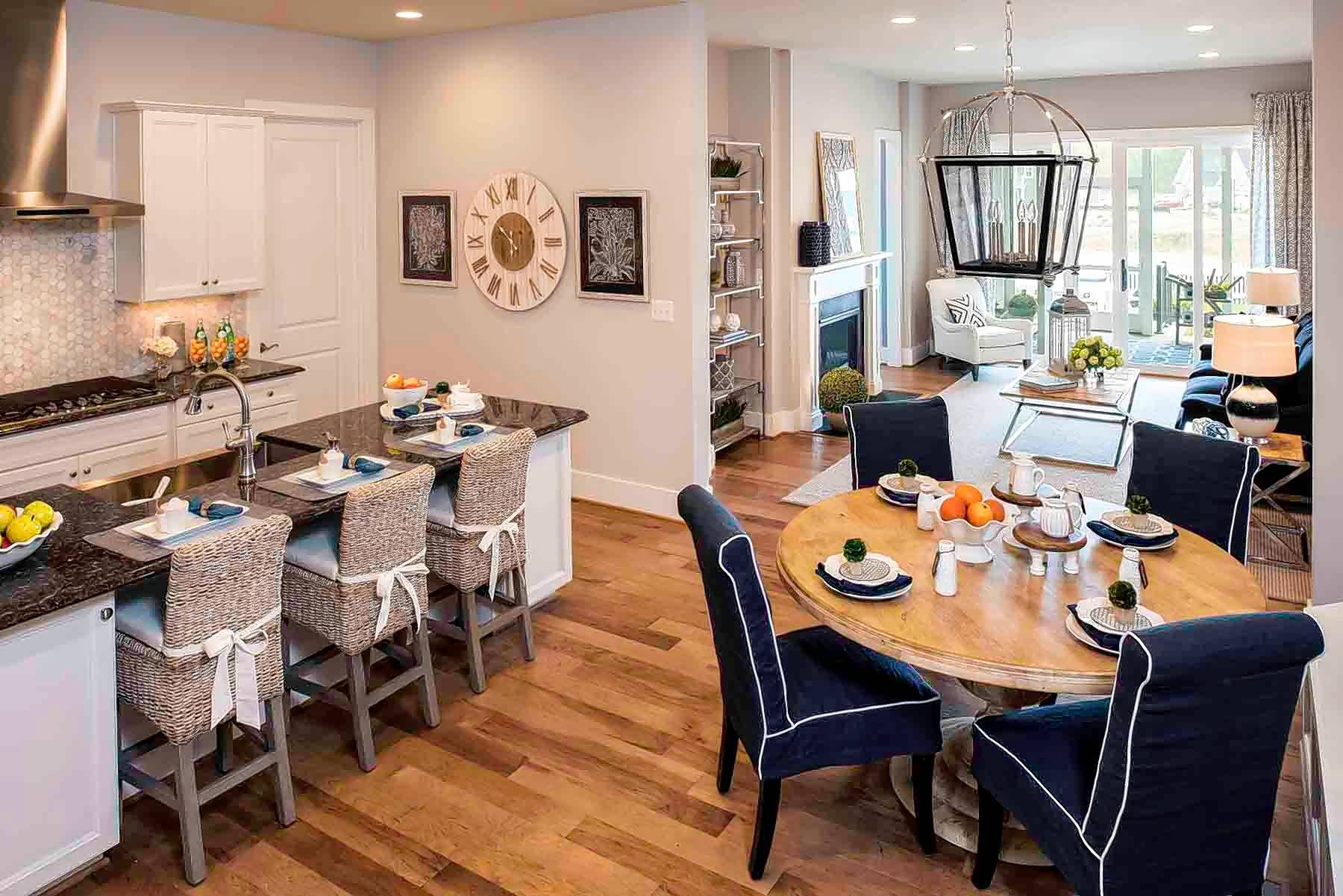 Across the nation you will find homebuilders who are developing active-adult communities within a half-hour of major urban areas. This cozy kitchen is in a Craftsman-style home being built in such a community in Maryland.