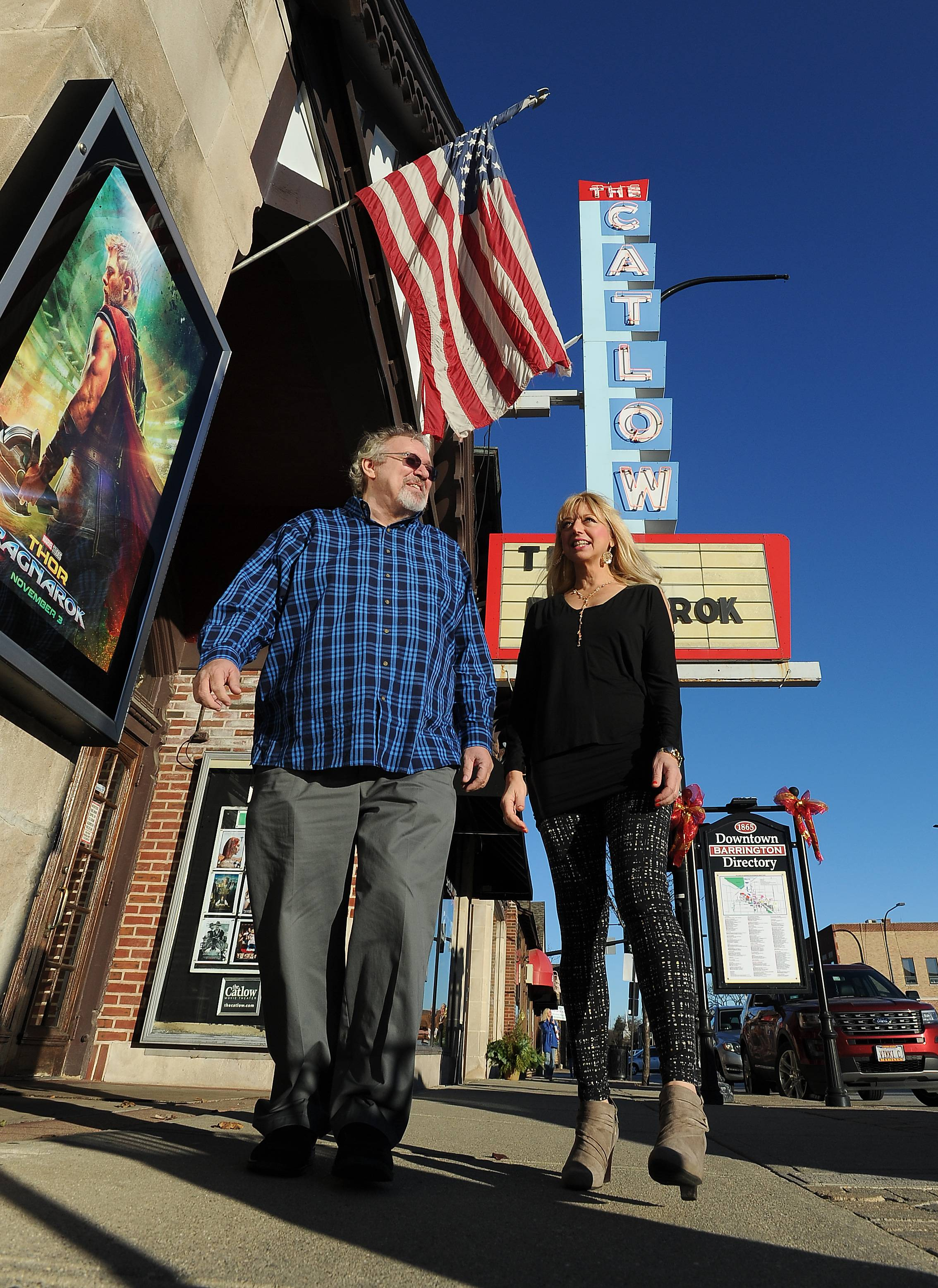Tim O'Connor, owner of the Catlow Theater and the adjacent Showtime Eatery in downtown Barrington, and wife Laura are trying to raise $40,000 in online contributions to help pay for restaurant improvements.