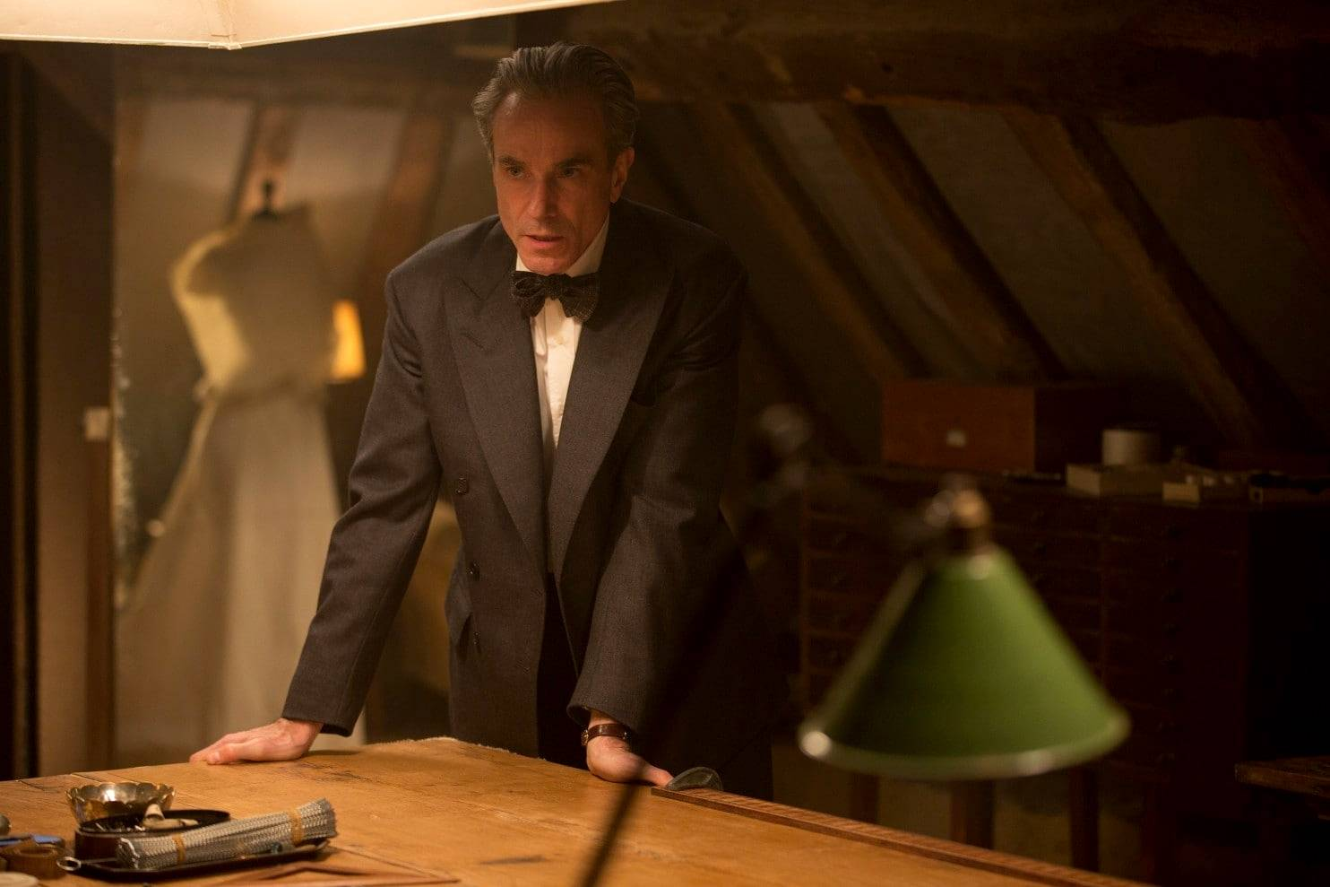 "Daniel Day-Lewis as Reynolds Woodcock in ""Phantom Thread."""
