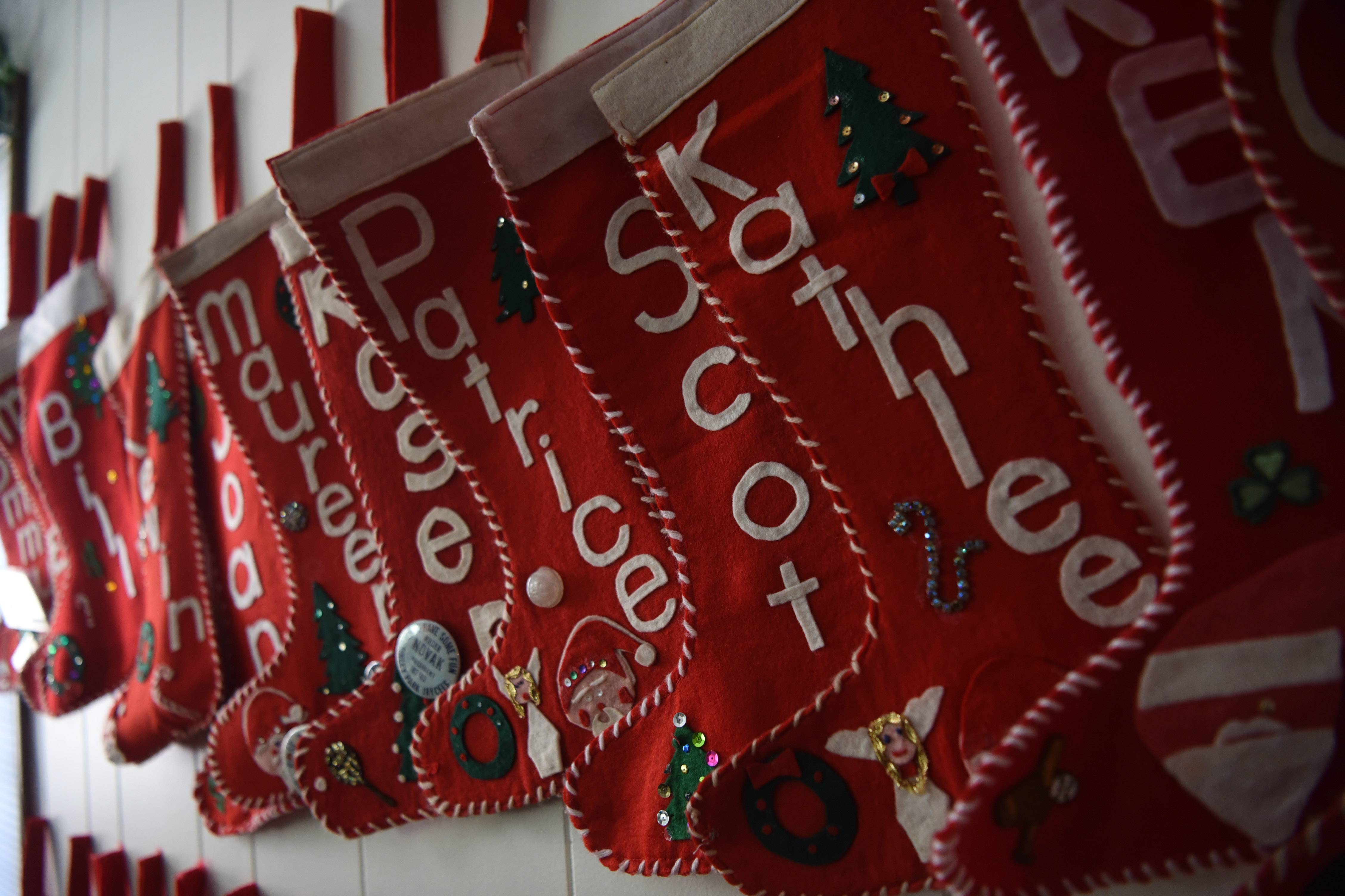 The 73 stockings hanging in Lorraine Kelly's house bear the names of her children, grandchildren and great-grandchildren.