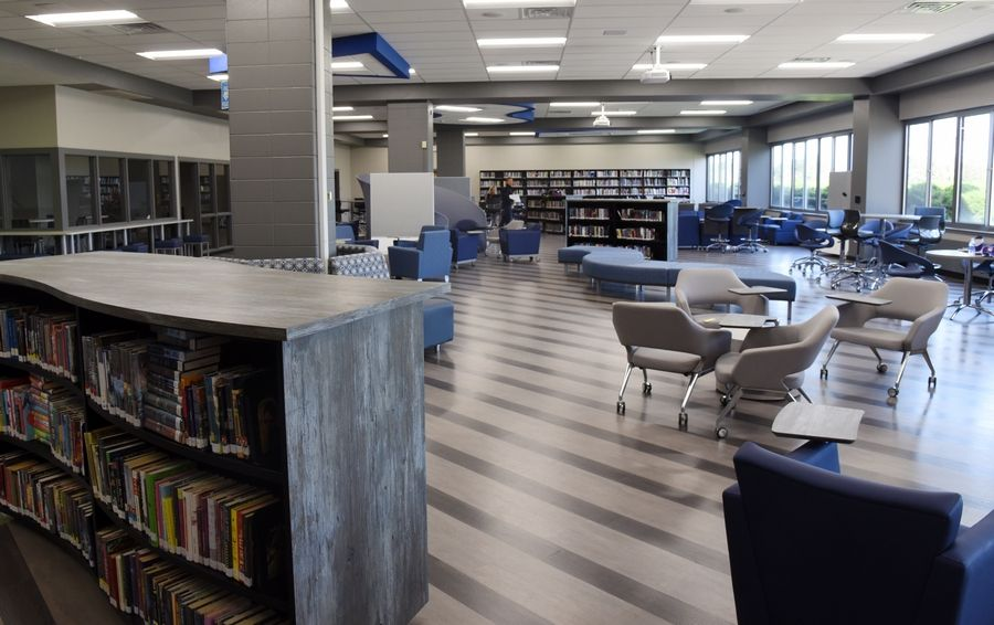 Central High School debuted a remodeled library media center this year. Next year, the school will unveil its second phase of improvements, including 12 additional classrooms, a field house, and a new veterinary science lab opening in August 2018.