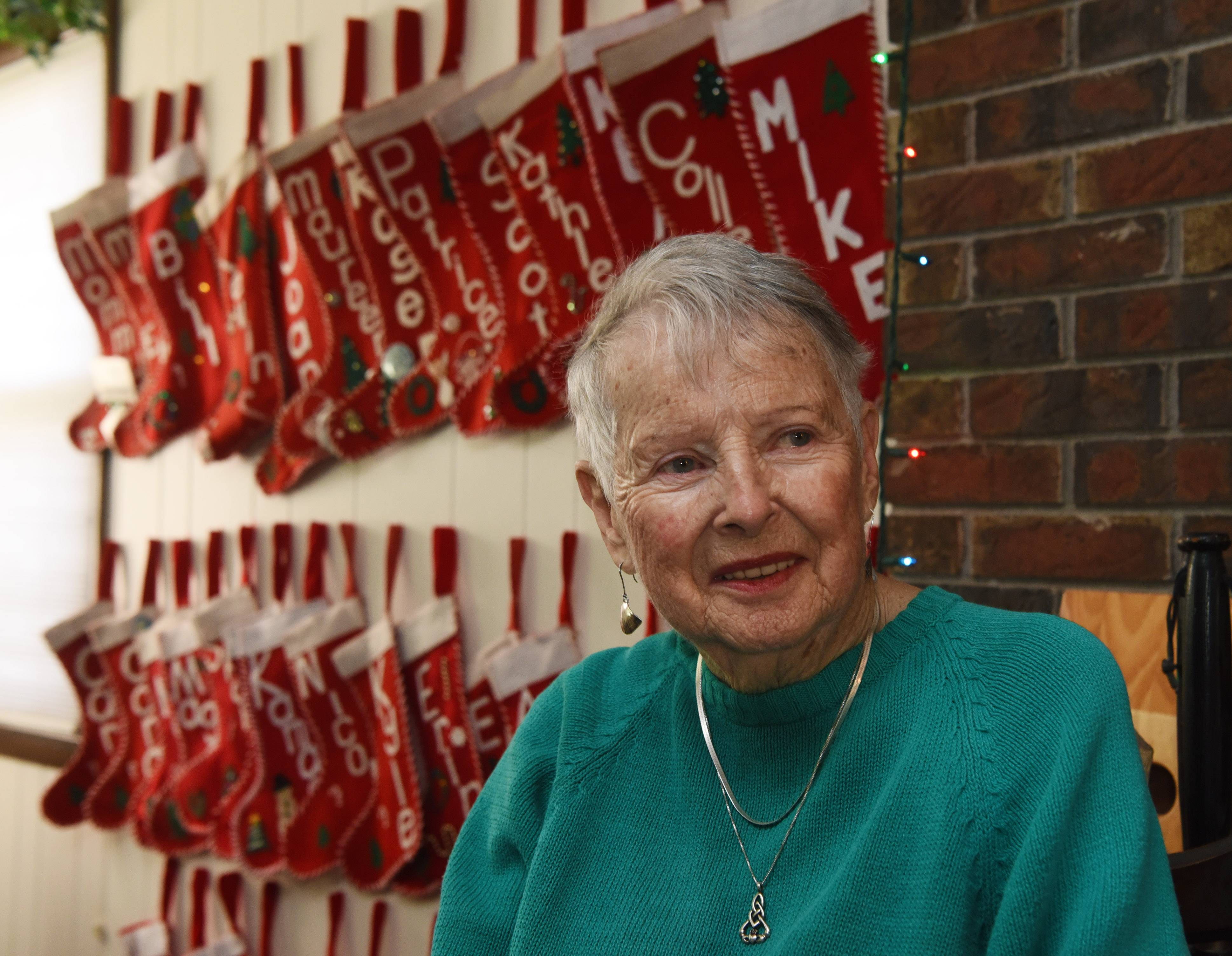 Lorraine Kelly of Arlington Heights has 73 stockings hanging in her house -- one for each member of her extended family.