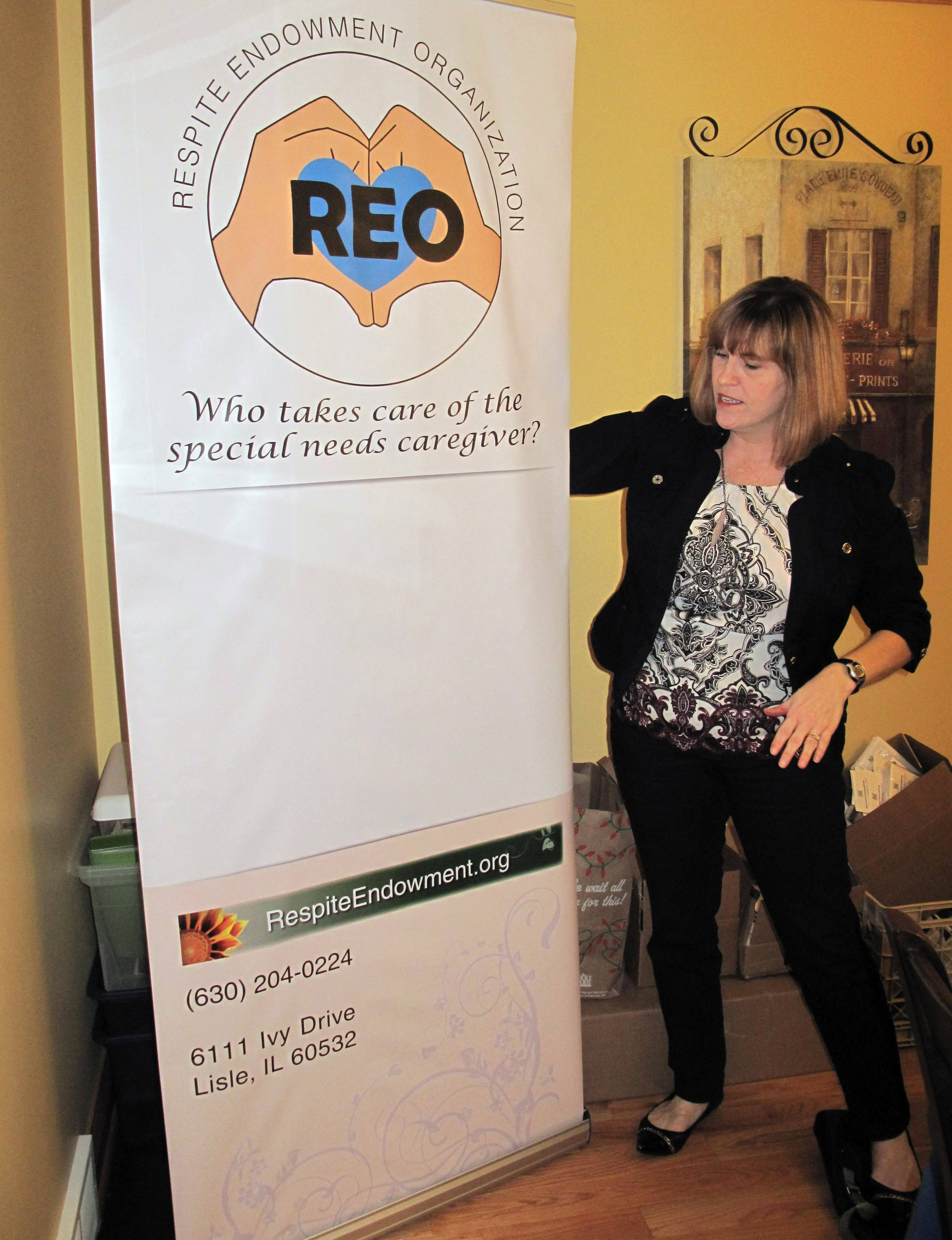 Becky Pundy, of Lisle, founded the Respite Endowment Organization in an effort to help parents of children with special needs get the break they need to take care of themselves.