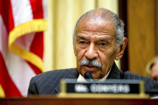 The Latest: Conyers' resignation letter read in the House