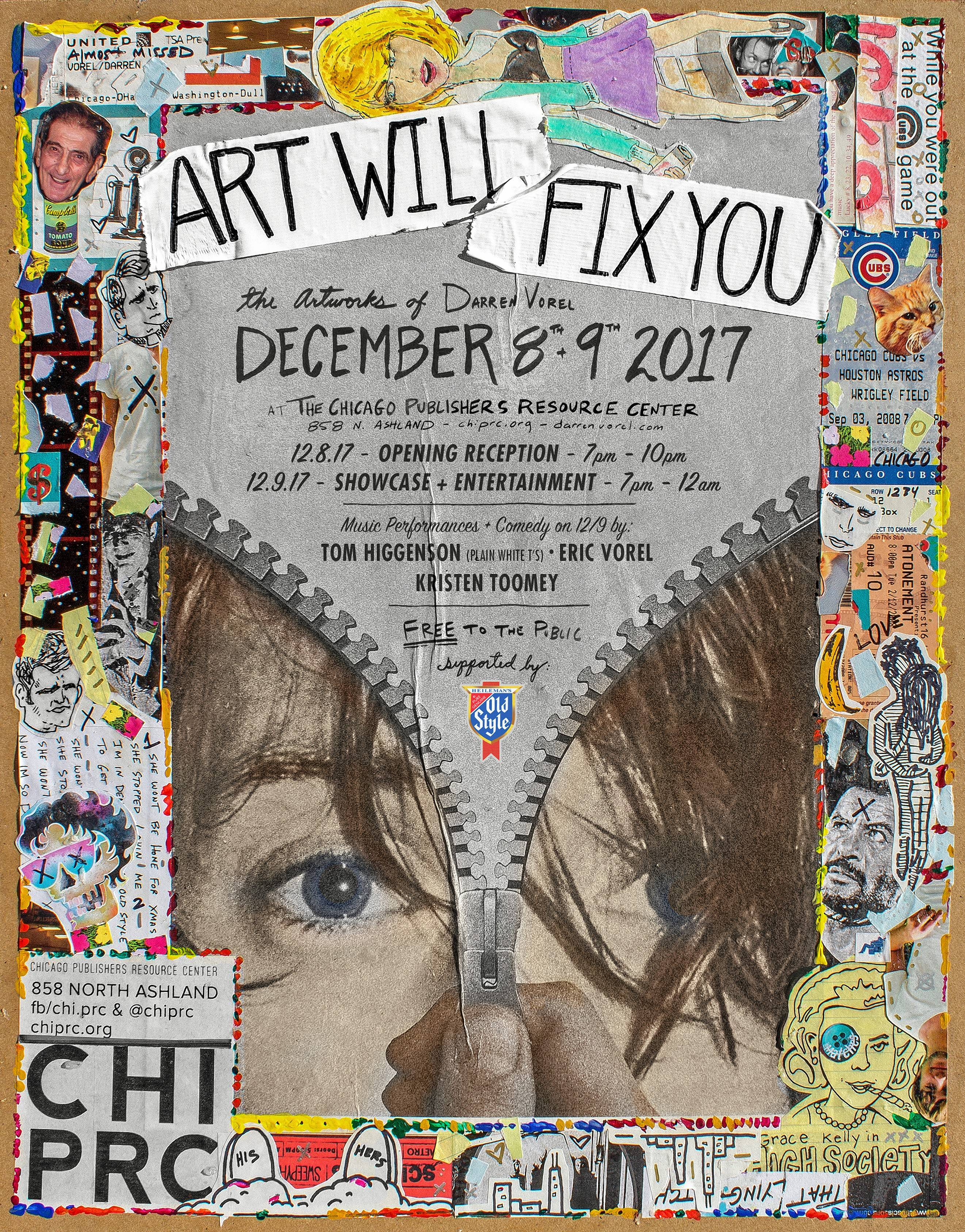 """Art Will Fix You"" Friday and Saturday, Dec. 8-9, will showcase some of Villa Park native Darren Vorel's works."