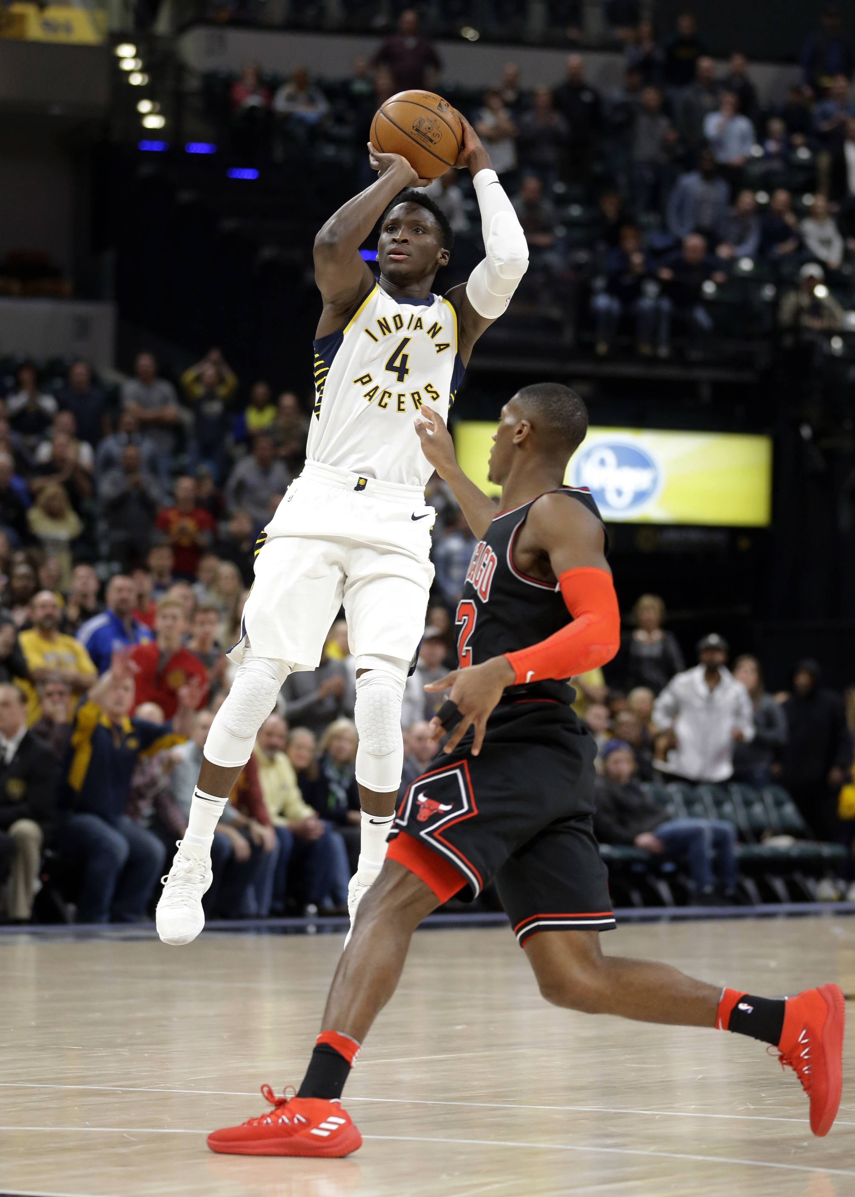 Oladipo leads Pacers to big comeback win over Chicago Bulls