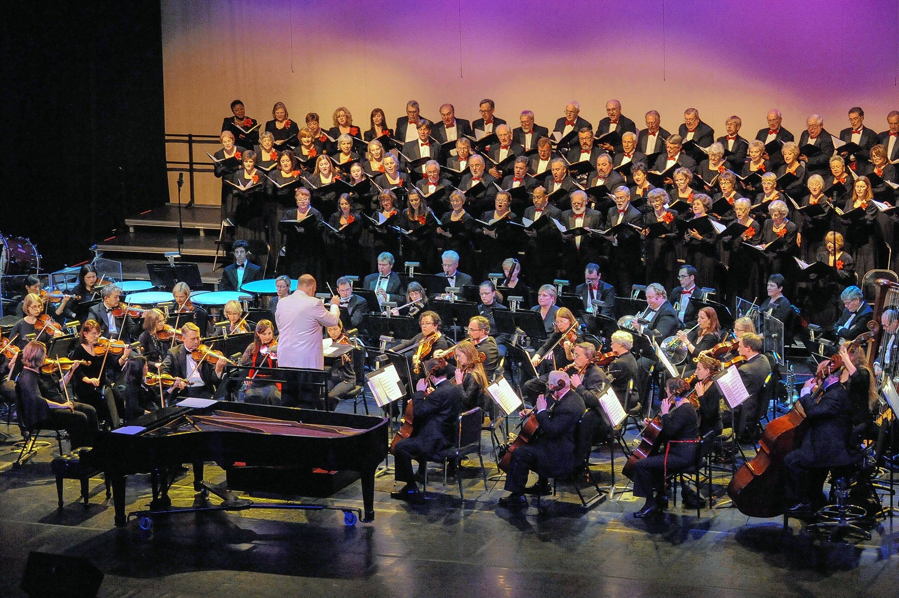 The Elgin Symphony Orchestra will be joined by the Elgin Master Chorale at its Magical Holiday Concerts.