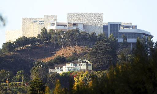 The Getty Center is seen after a wildfire swept through Los Angeles' Bel Air neighborhood Wednesday, Dec. 6, 2017. The Getty Center, the $1 billion home to the J. Paul Getty Museum and related organizations, stands on the west side of Sepulveda Pass. The fire did not immediately cross the wide expanse of the pass to the Getty side, but if it had, the facility is prepared.
