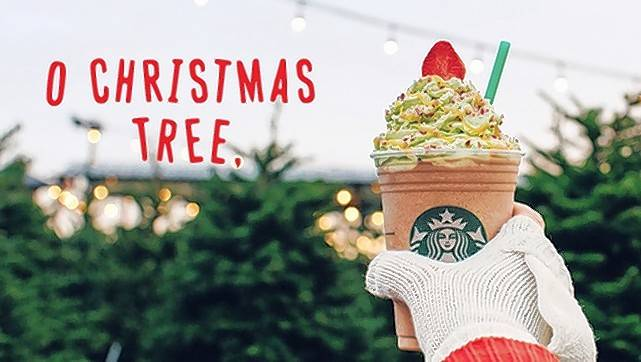 Starbucks started selling the Christmas Tree Frappuccino Thursday.
