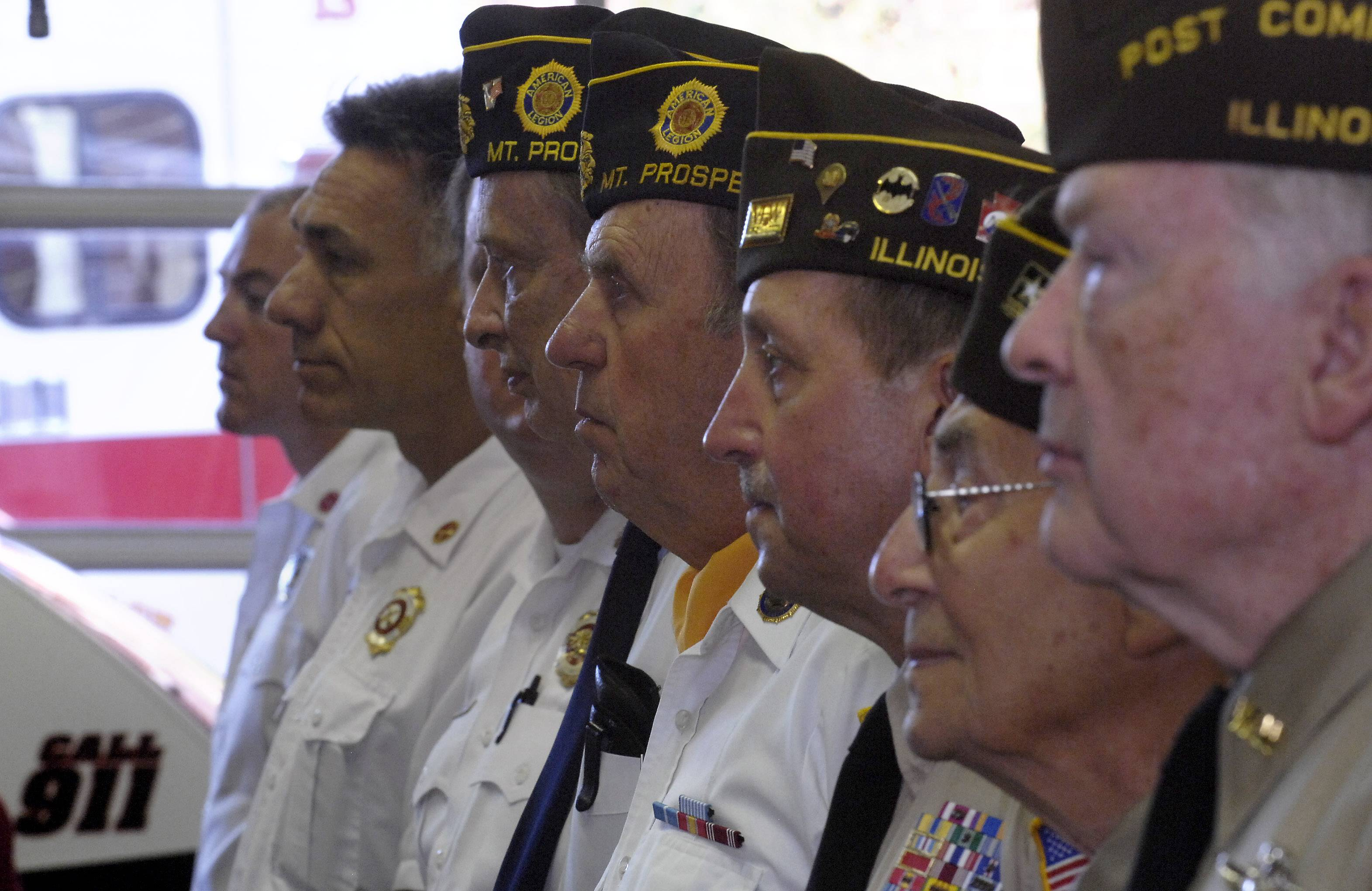 Veterans join a Sept. 11 commemoration in Mount Prospect.