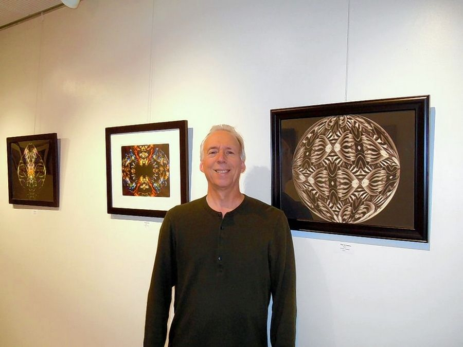 Arlington Heights artist Mike Stone is displaying his digital artwork at the Prairie Center for the Arts in Schaumburg through Dec. 30.