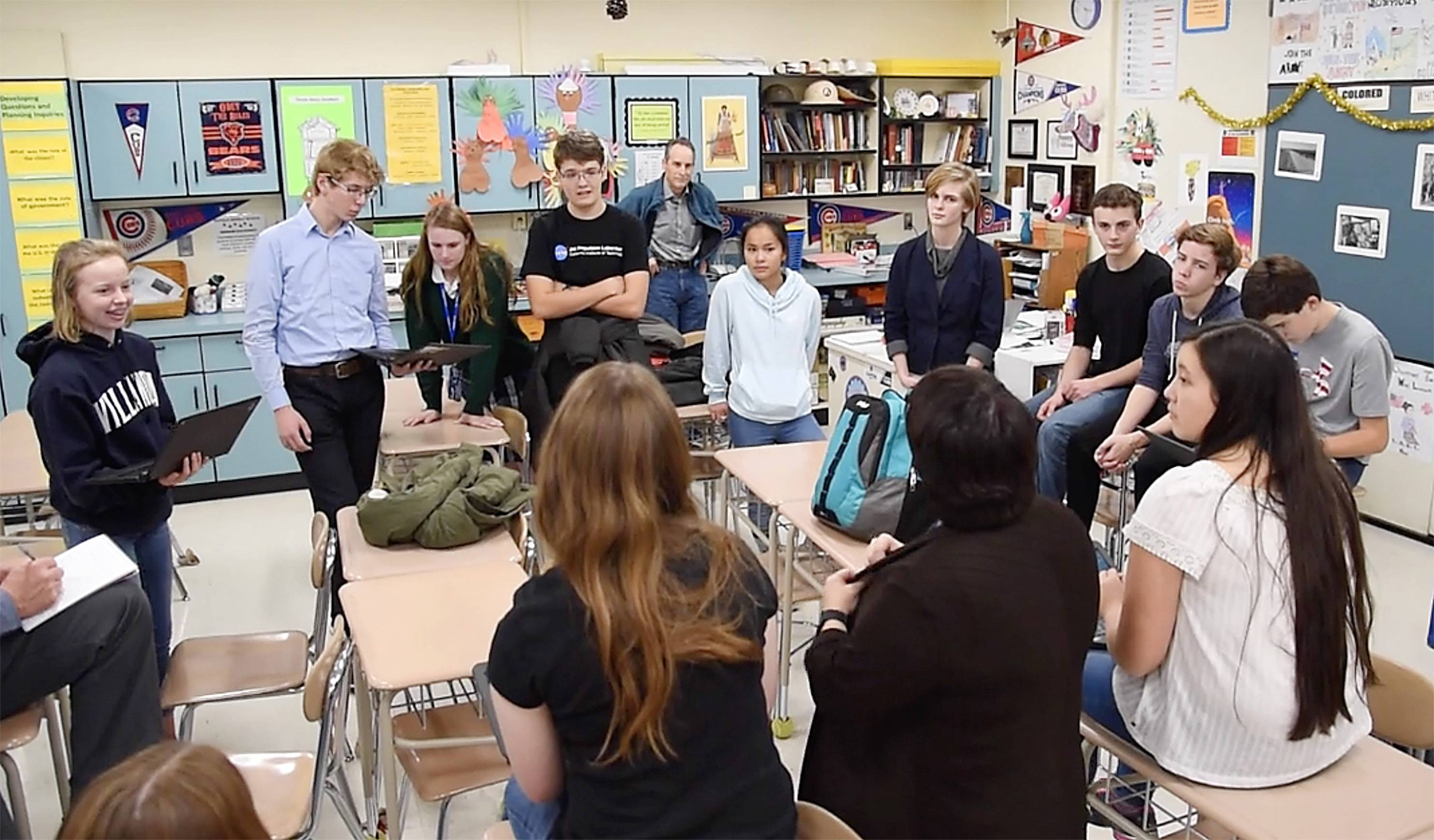 What grew out of a discussion about the Vietnam War turned into a life-changing project for some of the eighth-graders in teacher Julia Schaeffer's social studies class at Rotolo Middle School in Batavia. Kids who started that effort are now juniors in high school.