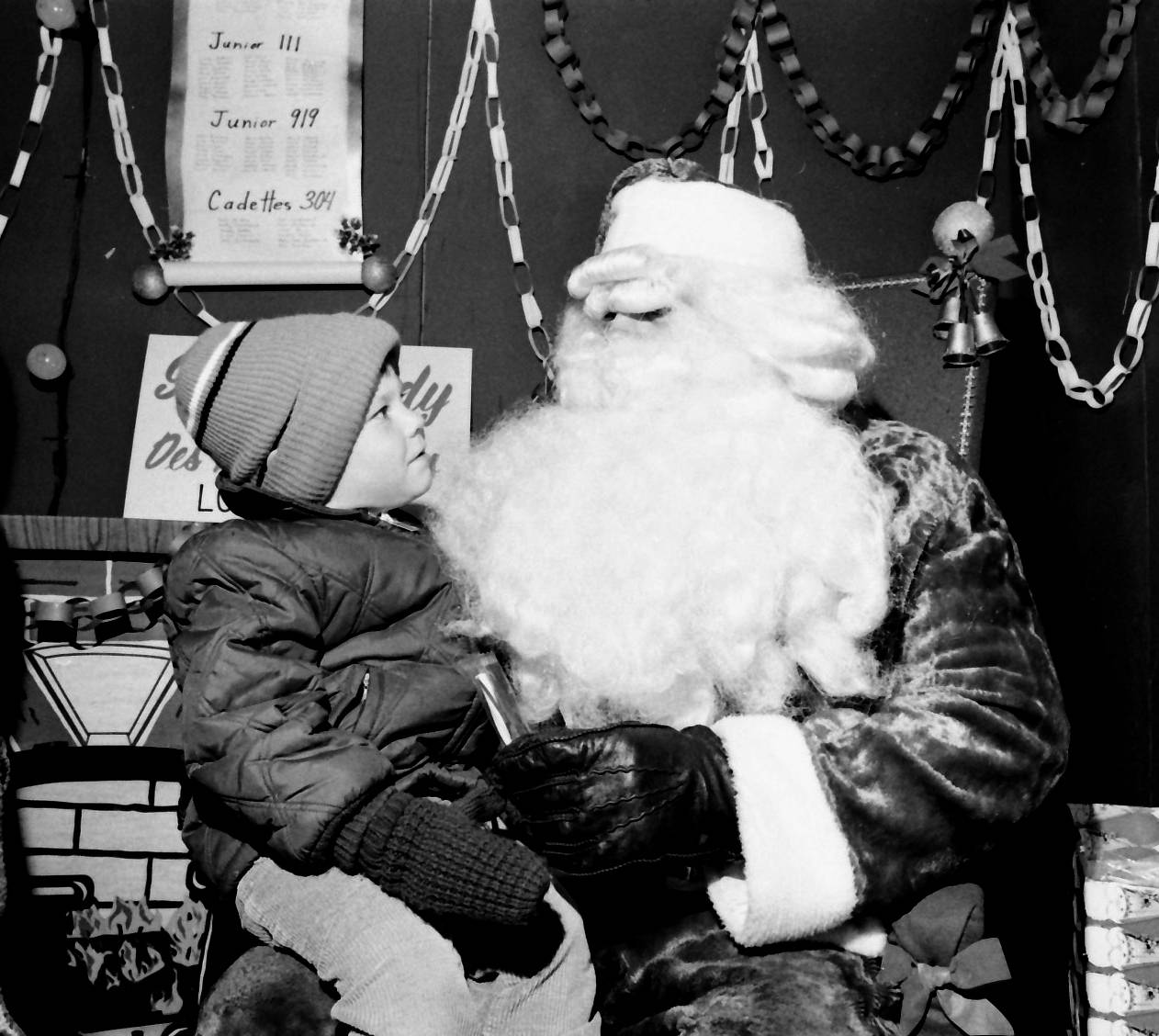 Santa visits Des Plaines in December of 1972.