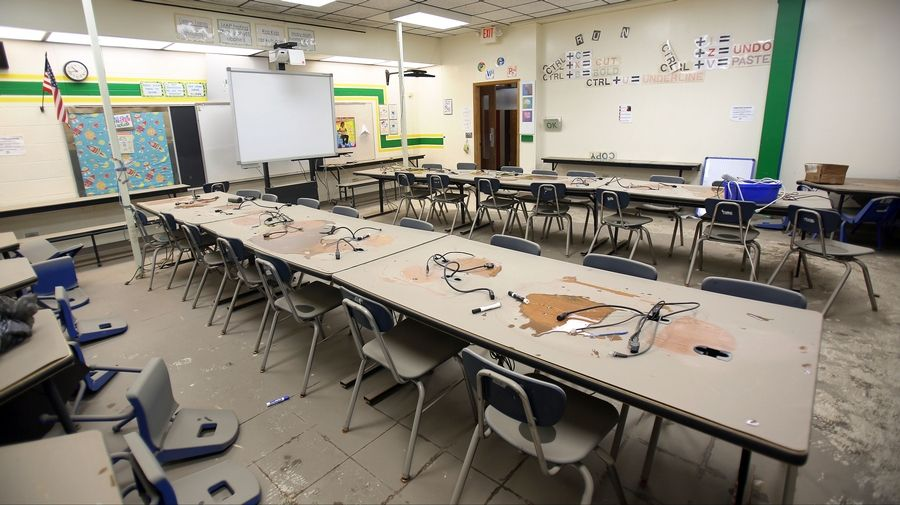 The flood damage sustained in July by Murphy Elementary School in Round Lake Park is worse than first thought, officials say. As a result, repairs they hoped would be finished by November will drag on to the end of the school year.