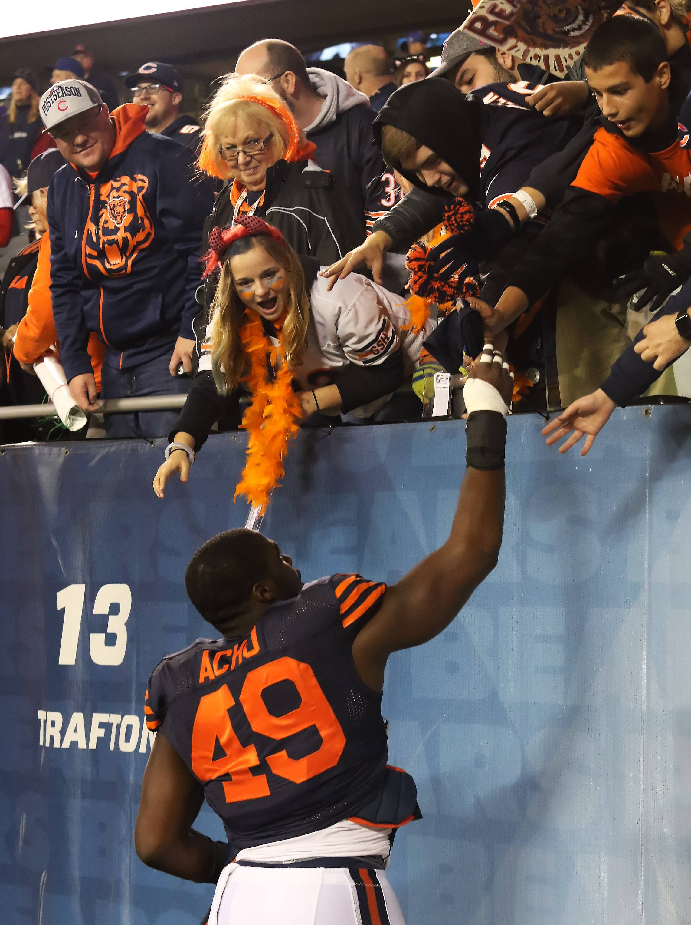 Why giving back is so important to Bears' Acho