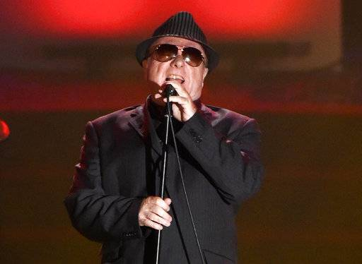 "FILE - In this June 18, 2015 file photo, Van Morrison performs at the 46th annual Songwriters Hall of Fame Induction and Awards Gala in New York. Morrison's 38th studio album, ""Versatile,� comes hard on the heels of ""Roll With the Punches,� a tribute to the rhythm and blues influences that helped forge the style that made him one of the world's greatest songwriters. (Photo by Evan Agostini/Invision/AP, File)"